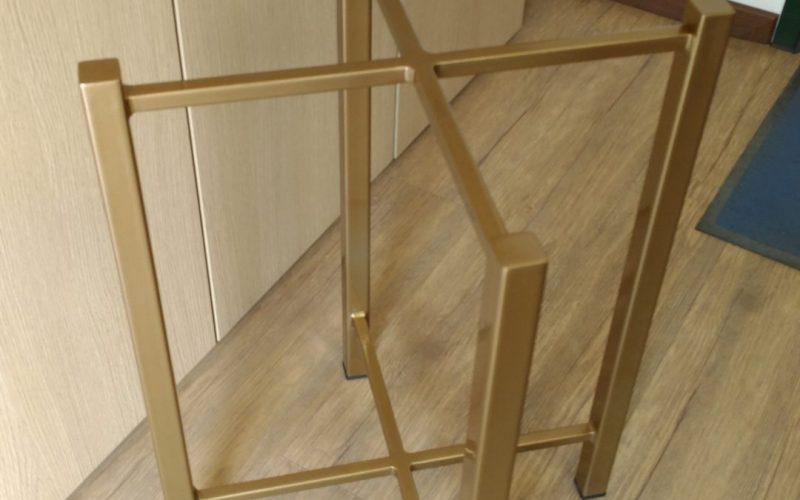 base tavolino in ferro verniciato